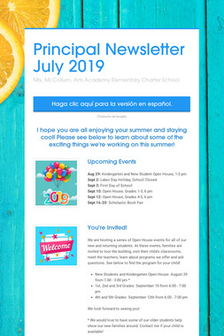 Principal Newsletter July 2019