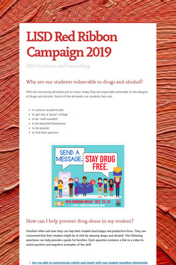 LISD Red Ribbon Campaign 2019