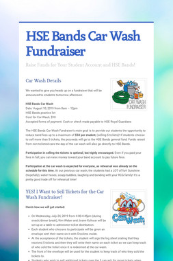 HSE Bands Car Wash Fundraiser