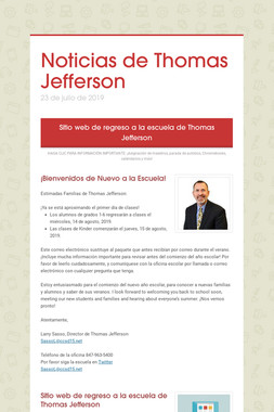 Noticias de Thomas Jefferson