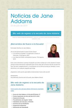 Noticias de Jane Addams