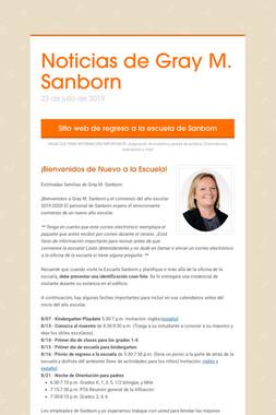 Noticias de Gray M. Sanborn