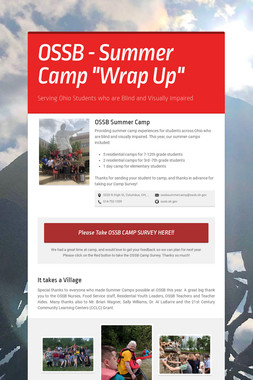 "OSSB  - Summer Camp ""Wrap Up"""