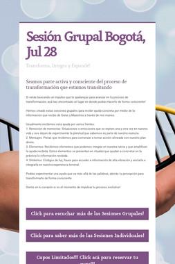 Sesión Grupal Bogotá, Jul 28