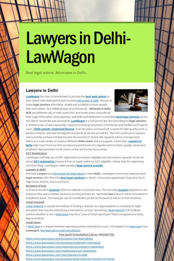 Lawyers in Delhi- LawWagon