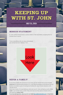 Keeping Up with St. John