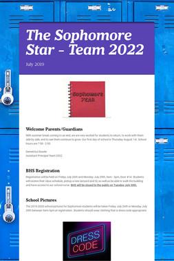 The Sophomore Star - Team 2022