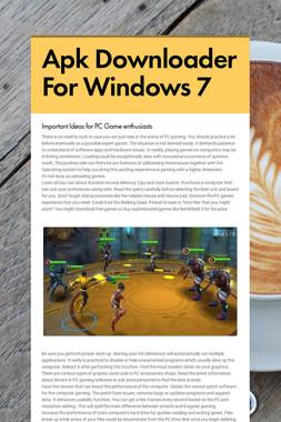Apk Downloader For Windows 7