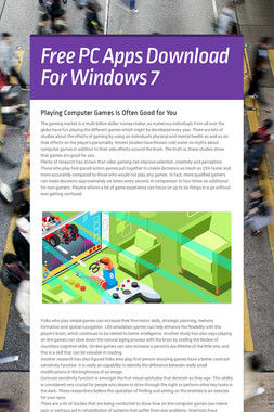Free PC Apps Download For Windows 7