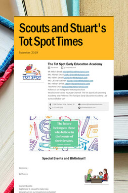 Scouts and Stuart's Tot Spot Times