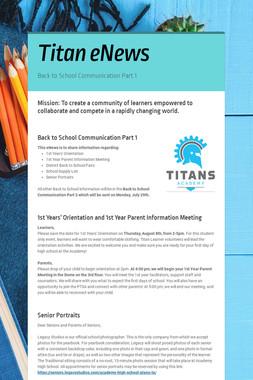 Titan eNews