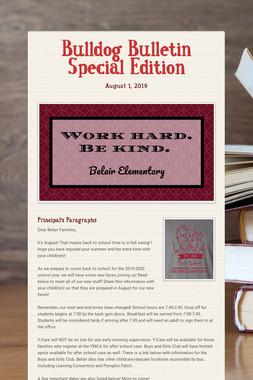 Bulldog Bulletin Special Edition