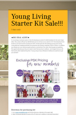 Young Living Starter Kit Sale!!!