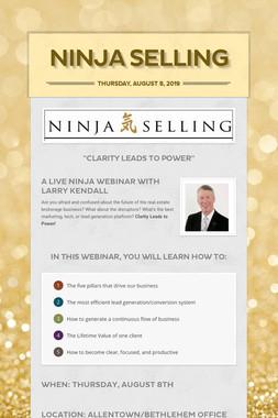 Ninja Selling