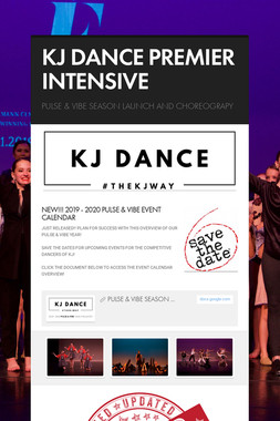 KJ DANCE PREMIER INTENSIVE