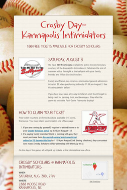 Crosby Day- Kannapolis Intimidators
