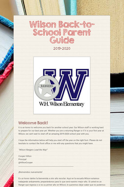 Wilson Back-to-School Parent Guide