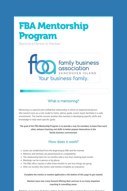 FBA Mentorship Program