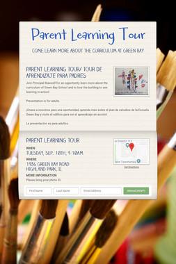 Parent Learning Tour