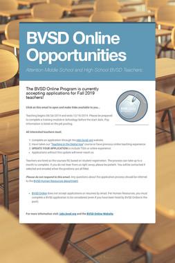 BVSD Online Opportunities