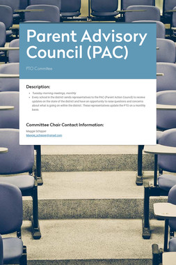 Parent Advisory Council (PAC)
