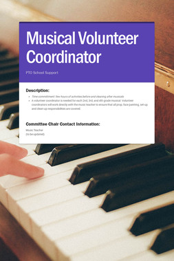 Musical Volunteer Coordinator