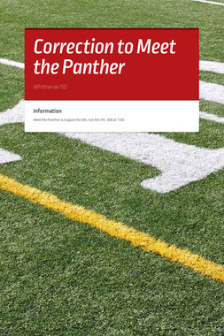 Correction to Meet the Panther
