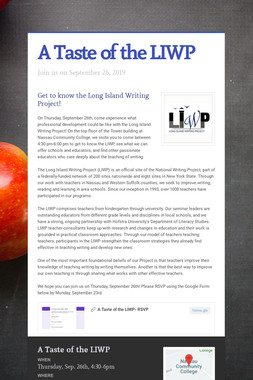 A Taste of the LIWP