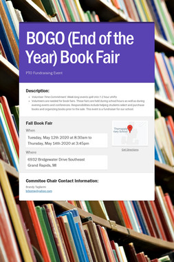 BOGO (End of the Year) Book Fair