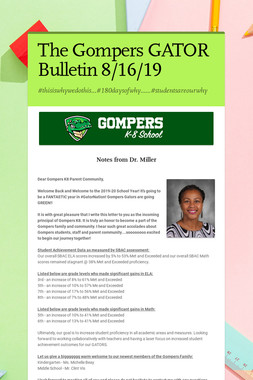 The Gompers GATOR Bulletin 8/16/19