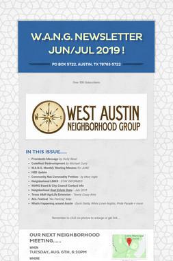 W.A.N.G. Newsletter JUN/JUL 2019 !
