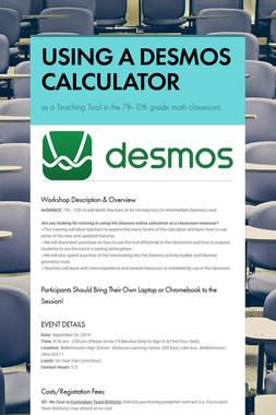 USING A DESMOS CALCULATOR