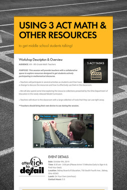 USING 3 ACT MATH & OTHER RESOURCES