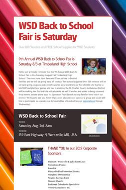 WSD Back to School Fair is Saturday