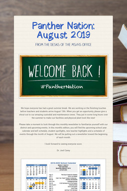 Panther Nation:  August 2019