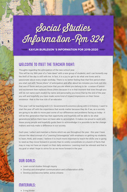 Social Studies Information-Rm 324