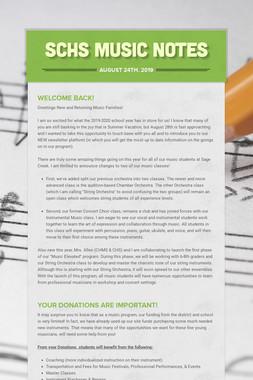 SCHS Music Notes