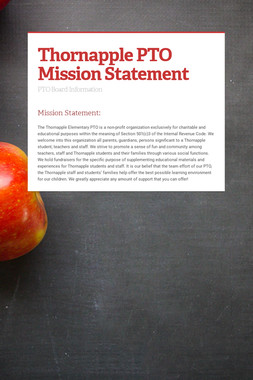 Thornapple PTO Mission Statement
