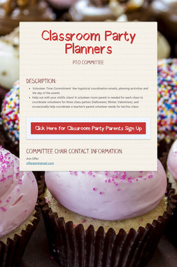 Classroom Party Planners