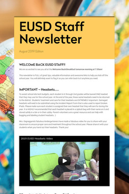 EUSD Staff Newsletter