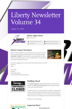 Liberty Newsletter Volume 34