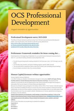 OCS Professional Development