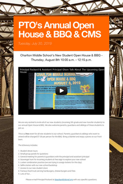 PTO's Annual Open House & BBQ & CMS