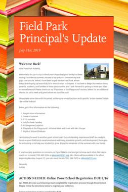 Field Park Principal's Update