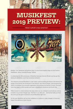 MUSIKFEST 2019 PREVIEW: