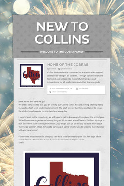 New to Collins
