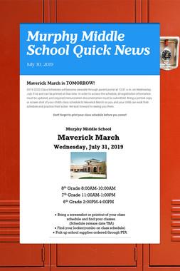 Murphy Middle School Quick News