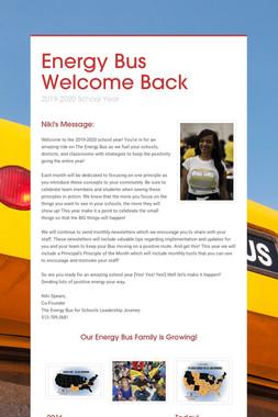Energy Bus Welcome Back