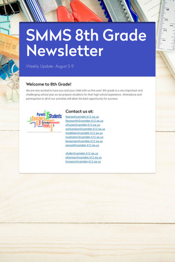 SMMS 8th Grade Newsletter