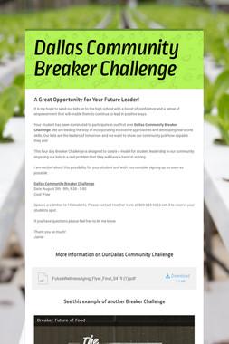Dallas Community Breaker Challenge